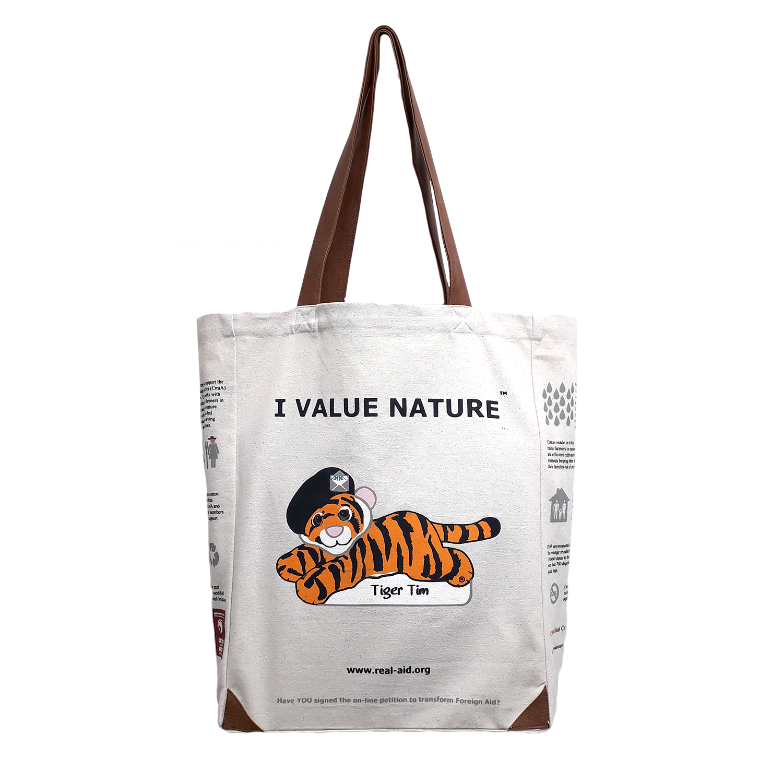Tiger Tim Tote, Double Slogan Natural