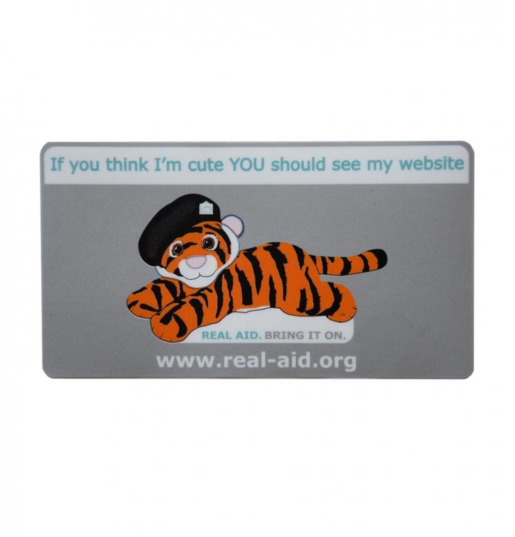 Tiger Tim Metallic Car Sticker