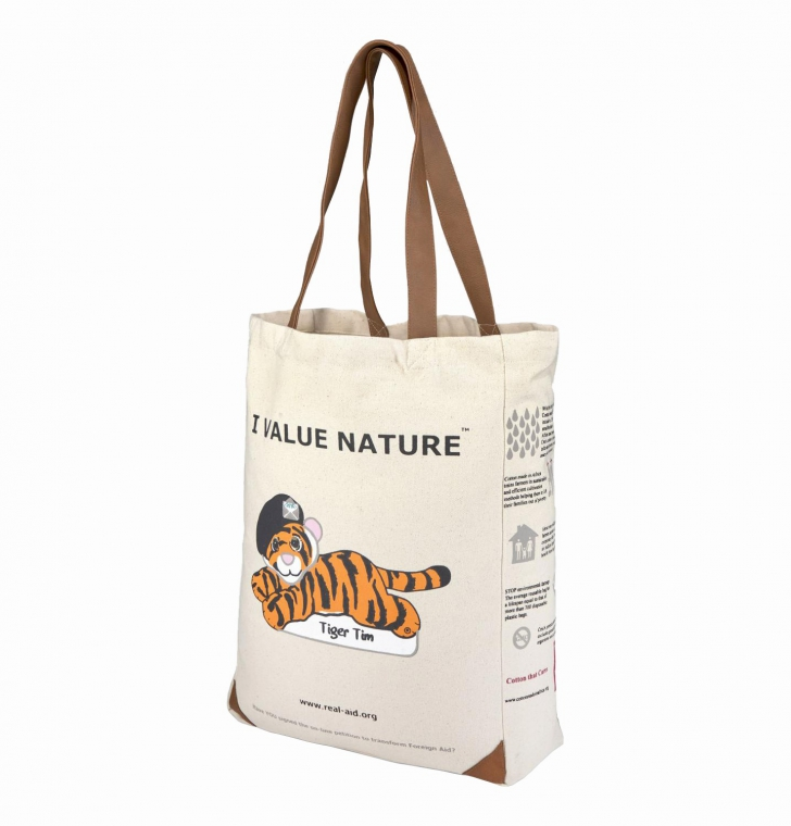 Tiger Tim Tote, Double Slogan Natural